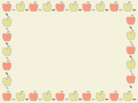 Apple frame with background