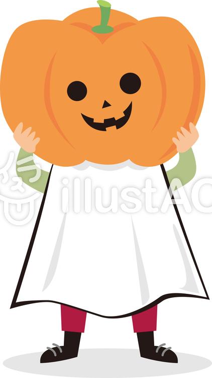 ハロウィンかぼちゃオバケイラスト No 886137無料イラストなら