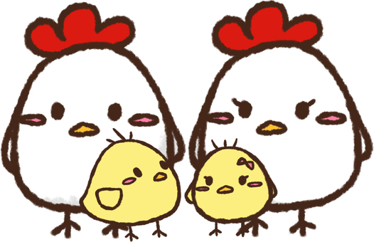 Rooster and chick ②