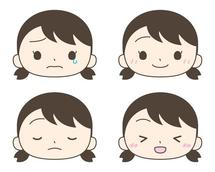 Girl expression icon