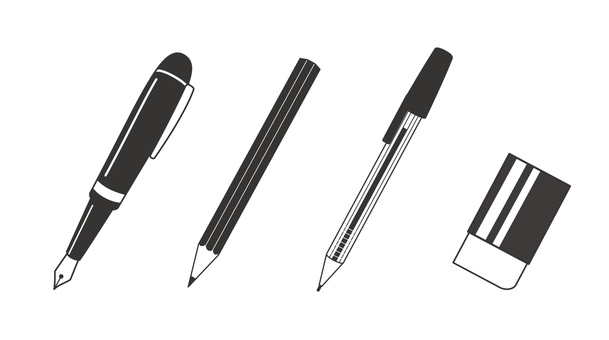 Writing utensil (monochrome)