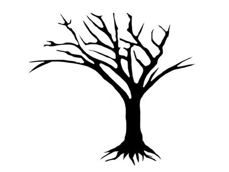 Thin dead tree