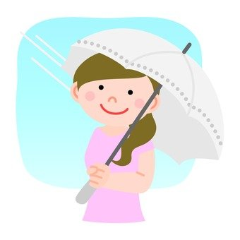 A woman holding a parasol 2