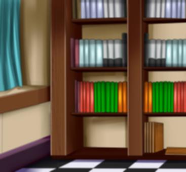 Western-style bookshelf blurring addition