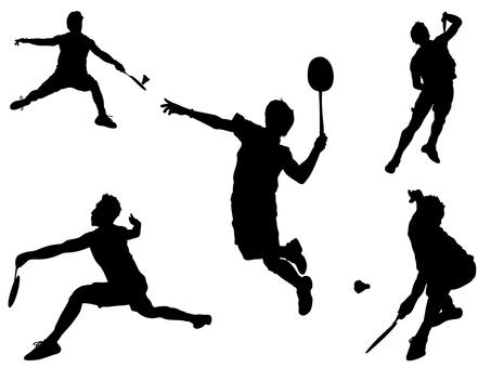 Badminton _ silhouette