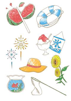 Summer image illustration (color)