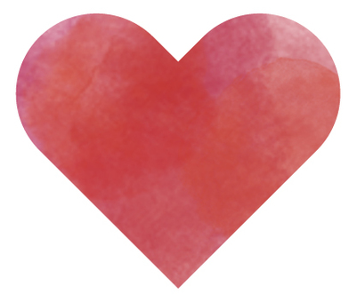 Heart 07 (watercolor style)