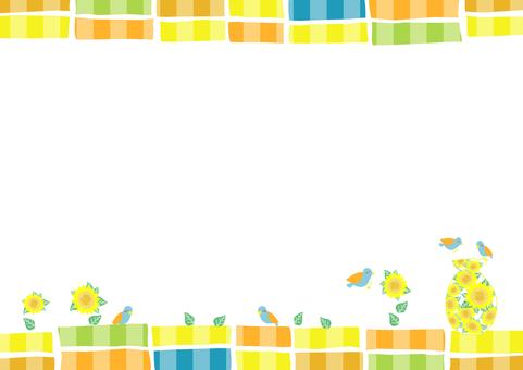 Birds and sunflower frame 4