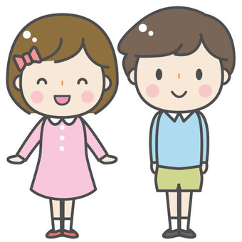 Cute child - man and woman