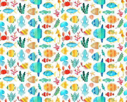 Sea creature pattern