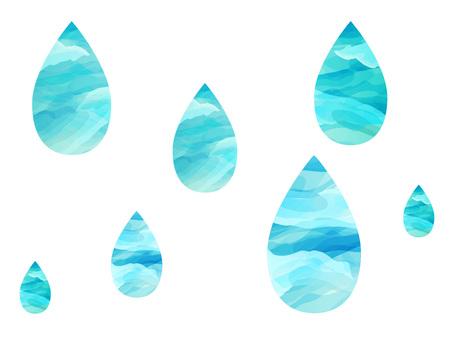 雫 雨 水滴