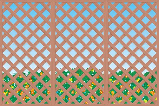 Flowerbed fence gardening frame