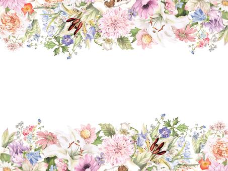 Flower frame 409 - Gorgeous flower flower frame