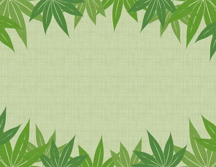 Hemp bamboo frame _ green