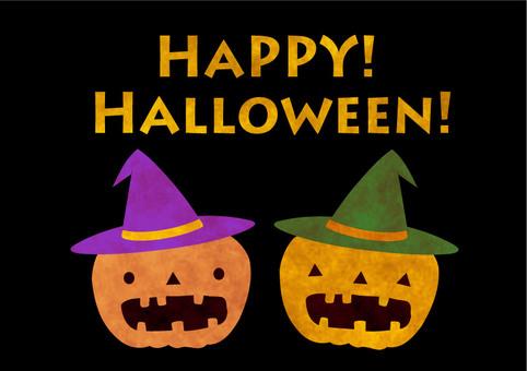Card · Halloween · Black · Watercolor Wind