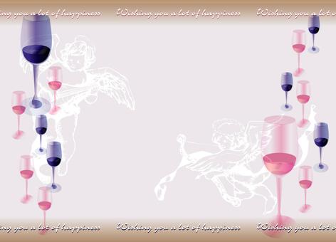 婚礼卡葡萄酒