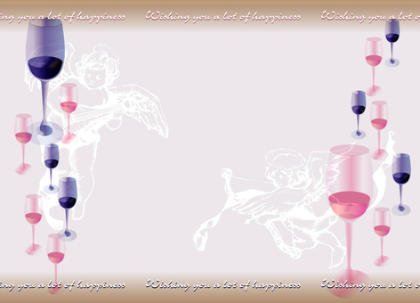 Wedding card wine
