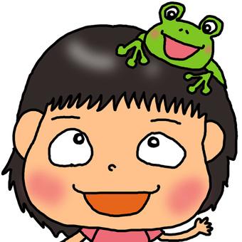 青蛙和女兒