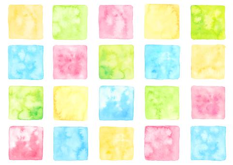 Watercolor material 9 Summer color