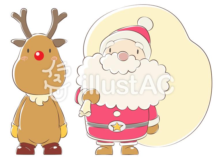 キャラクター-サンタクロースのイラスト