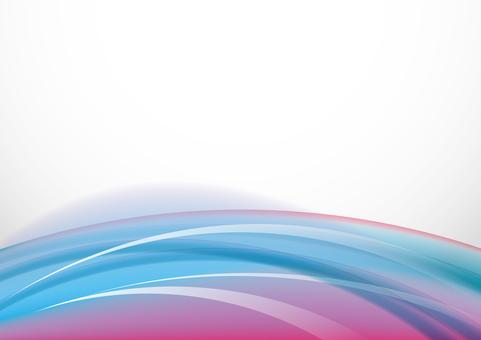 五顏六色的風 - 粉紅色和藍色