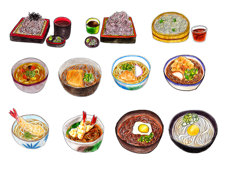 Soba, Udon menu Summary