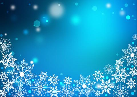 クリスマス_ブルー背景2209