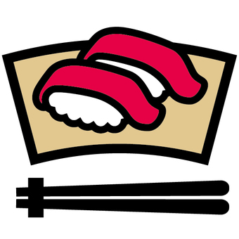 Sushi icon Tuna Japanese food Japanese food