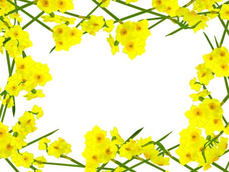 노란 수선화 프레임