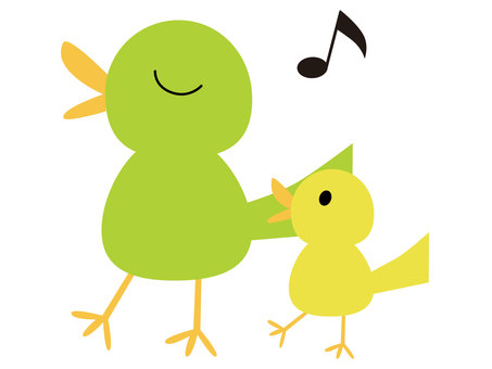 Parents and children of singing birds