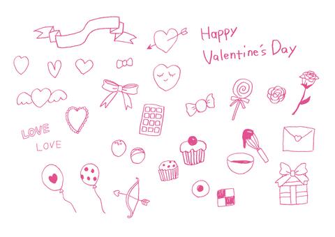 Handwritten illustration set 2 for VD · WD
