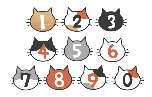 Cat type number set