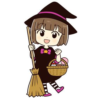 ハロウィンの仮装(女の子・魔女)