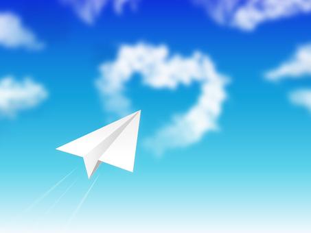 蓝蓝的天空和纸飞机03