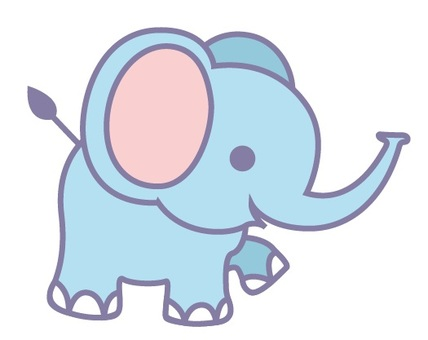 Animals Illustration Elephant Blue