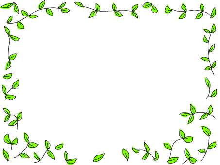 Leaf frame 5 green
