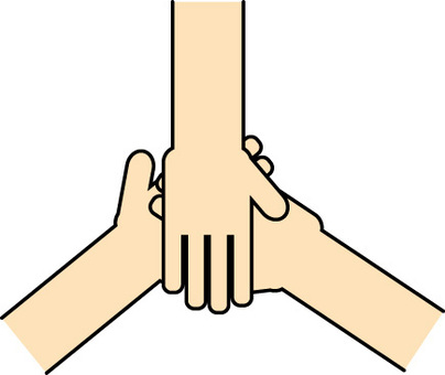 Unity friendly friendship hand cooperation