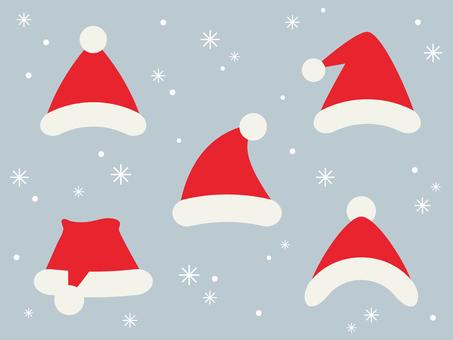 산타 모자 (플랫)