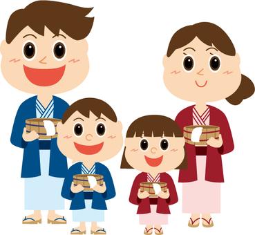 Family two generations Yukata