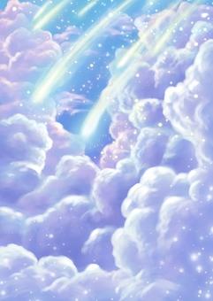 유성과 뭉게 구름