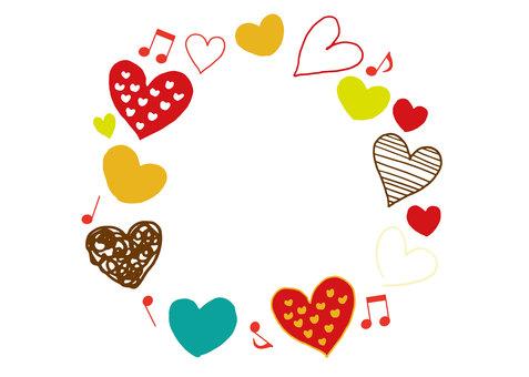 Heart 31_01 (hand-painted, circle)