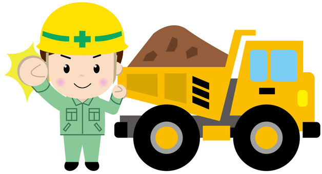 Heavy dump truck (with people 2)