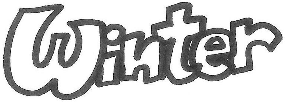 winter white letter logo winter
