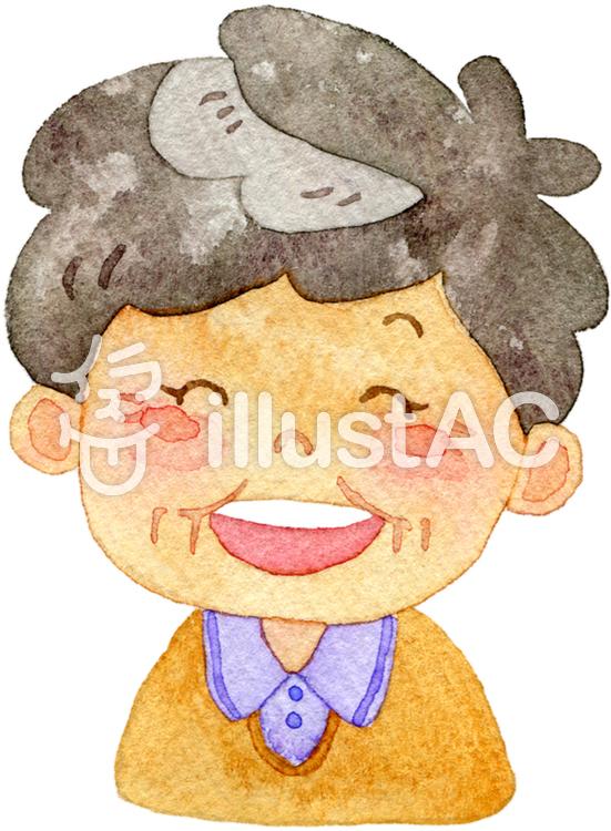 笑顔のおばあちゃんイラスト No 844306無料イラストならイラストac