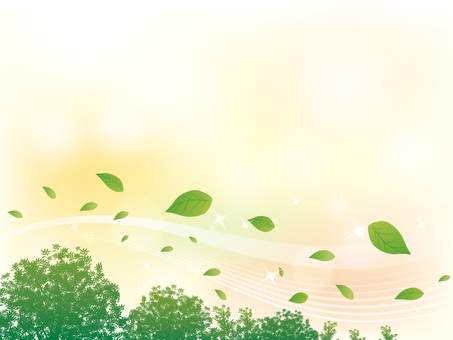 Sparkling stream of tree and leaf Background 03