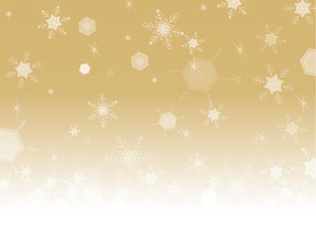 Frame snow crystal (gold)