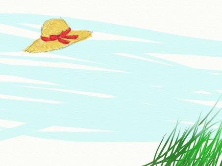 夏の麦わらのフレーム
