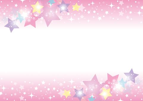 キラキラ光る星の背景03