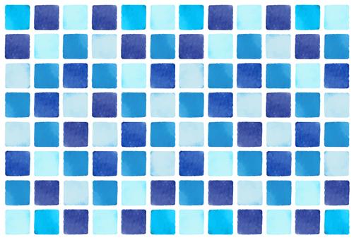 Blue Watercolor Style Tile