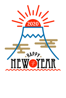 New Year's card 415
